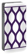 Simplified Latticework With Border In Purple Portable Battery Charger