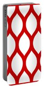 Simplified Latticework With Border In Red Portable Battery Charger