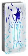 Simply Blue Dancing Flowers Portable Battery Charger