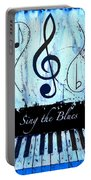 Sing The Blues Blue Portable Battery Charger