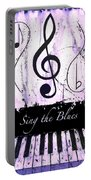 Sing The Blues Purple Portable Battery Charger