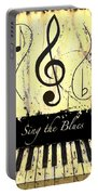 Sing The Blues Yellow Portable Battery Charger