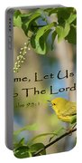 Sing To The Lord Portable Battery Charger