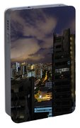 Singapore Cityscape On A Cloudy Night Portable Battery Charger