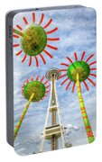Singing Flowers Under The Space Needle Portable Battery Charger