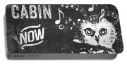 Singing Owl Cabin Rustic Sign Portable Battery Charger