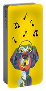 Singing The Blues - Dog Humor Portable Battery Charger