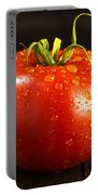 Single Fresh Tomato With Dew Drops Portable Battery Charger