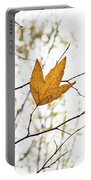 Single Leaf In Fall Portable Battery Charger