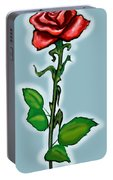 Single Red Rose Portable Battery Charger