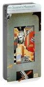Sir John Soane's Museum - London Underground, London Metro - Retro Travel Poster - Vintage Poster Portable Battery Charger