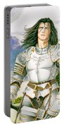 Sir Lancelot Portable Battery Charger by Melissa A Benson