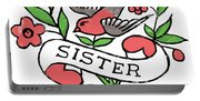 Sister Tattoo Design Portable Battery Charger