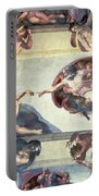 Sistine Chapel Ceiling Creation Of Adam Portable Battery Charger