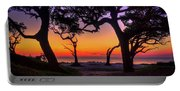 Sit With Me Driftwood Beach Sunrise Jekyll Island Georgia Portable Battery Charger