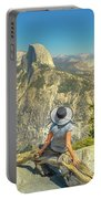 sitting at Glacier Point Portable Battery Charger
