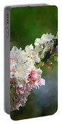 Sitting Guard In The Cherry Blossoms Portable Battery Charger