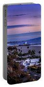 Sitting On The Fence - Santa Monica Pier Portable Battery Charger