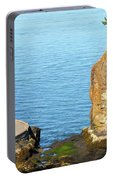 Siwash Rock By Stanley Park Seawall Portable Battery Charger