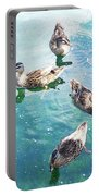 Six Ducks Swim Together Portable Battery Charger