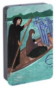 Six Of Swords Illustrated Portable Battery Charger