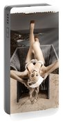 Sixties Classic Pin-up Beauty In Vintage Fashion Portable Battery Charger by Jorgo Photography - Wall Art Gallery