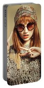 Sixties Retro Fashion Portable Battery Charger