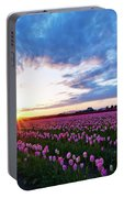 Skagit Floral Sunset Portable Battery Charger