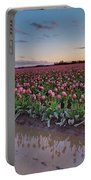 Skagit Valley Tulip Reflections Portable Battery Charger