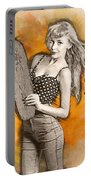 Skateboard Pin-up Illustration Portable Battery Charger