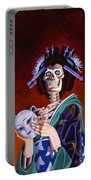 Skeletal Geisha With Mask Portable Battery Charger