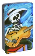 Skeleton Guitar Day Of The Dead  Portable Battery Charger