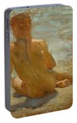 Sketch Of Nude Youth Study For Morning Spelendour Portable Battery Charger