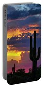 Skies Aglow In Arizona  Portable Battery Charger