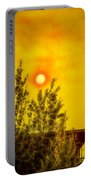 Skies Of Smoke And Fire Portable Battery Charger