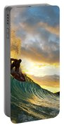 Skimboarding At Sunset II Portable Battery Charger