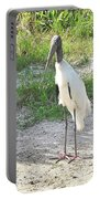 Skinny Wood Stork Portable Battery Charger
