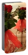 Skirted Roses In Mirror Portable Battery Charger