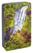 Skogafoss Waterfall #10 Portable Battery Charger