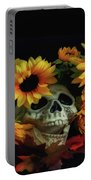 Skull And Flowers Portable Battery Charger