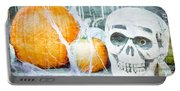 Skull And Pumpkin Portable Battery Charger