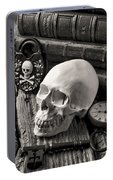 Skull And Skeleton Key Portable Battery Charger