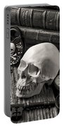 Skull And Skeleton Key Portable Battery Charger by Garry Gay