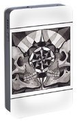 Skull Mandala Series Nr 1 Portable Battery Charger by Deadcharming Art