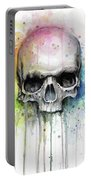 Skull Watercolor Rainbow Portable Battery Charger