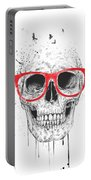 Skull With Red Glasses Portable Battery Charger