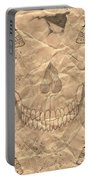 Skulls In Grunge Style Portable Battery Charger