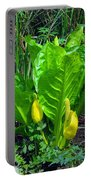 Skunk Cabbage In Bloom Portable Battery Charger