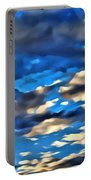 Sky And Clouds Portable Battery Charger