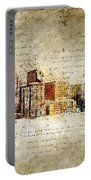 skyline of Denver in modern and abstract vintage-look Portable Battery Charger
